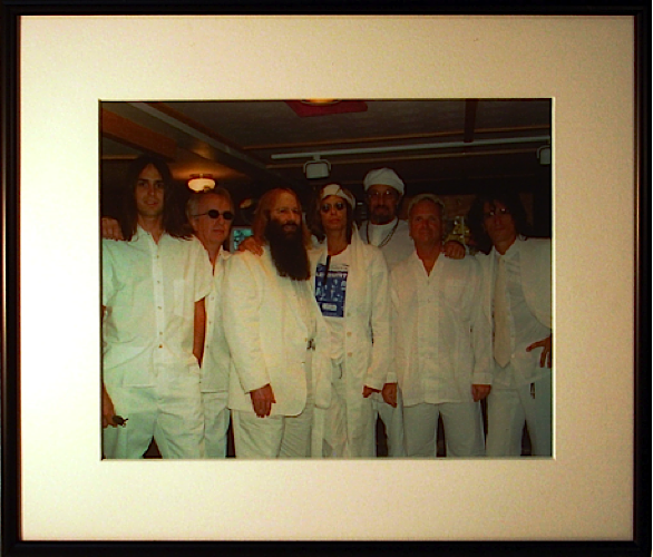 Aerosmith dressed in signature JDK all whites