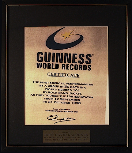 Jackyl - Guiness World Record holder