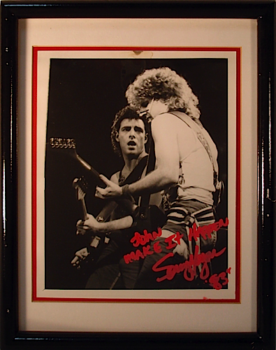 Sammy Hagar photo signed to JDK